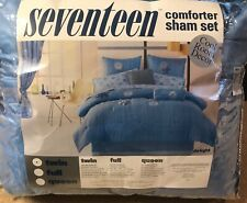 NEW Seventeen Comforter Sham Set w/ Bedskirt & Pillow (Twin)