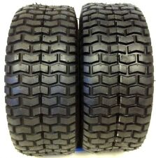 (2) New 15x6.00-6 TURF TIRES 4 Ply Tubeless Toro Wheel Horse Lawn Mower Tractor