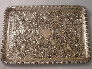 William Comyns Silver Huge Heavy Ladies Dressing Table tray 457 grams Edwardian