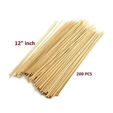 """Bamboo Skewers Wooden for Bbq Sticks or Grill Other (200 Pcs - 12 """")"""