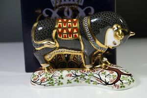 Royal Crown Derby 'GRECIAN BULL' Paperweight. Limited Edition 7/750 AA3