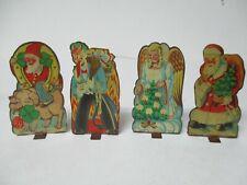 New Listing4 Musterschultz Germany Tin Litho Christmas Figures - Krampus Santa Angel