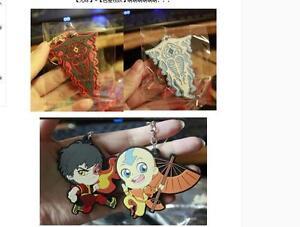 AVATAR ZUKO Aang VAATU RAAVA Anime Keychain Keyring Strap Rubber Limited Rare
