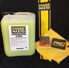 Power Maxed Caravan Wash & Wax 5 Concentrate litre+Free Micro fibre,Shampoo Wax