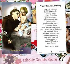 St. Anthony with Prayer to Saint Anthony - Paperstock Holy Card