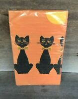 Vintage Reed's Rembrandt Halloween Crepe Paper Tablecloth in Package w Black Cat
