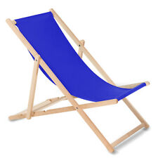 chaise longue classique en hêtre bleu foncé