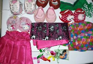 BUILD A BEAR MIx LOT Girl Clothes Dress Shoes bows Accessories hello kitty BABW