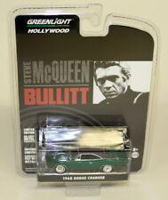 Greenlight 1/64 Scale 1968 Dodge Charger Green Steve McQueen Bullitt Chase Car