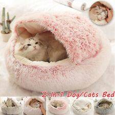 Pet Cat Dog House Kennel Puppy Cave Sleeping Bed Soft Mat Winter Warm Nest Bed