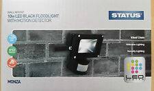 Black LED Motion Sensor Flood Light Lamp 10w Wall Mounted Security Great Value!
