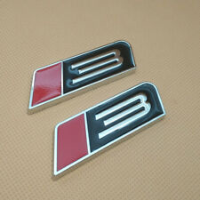 2x Metal Silver Amp Black Roush Stage 3 Emblem Sticker Wing Door Fender 3d Sticker Fits Focus