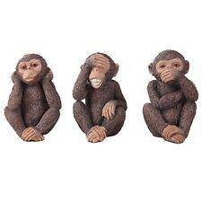 Three Wise Monkey See Hear Speak No Evil Animal Lover Figurine Statue Collection