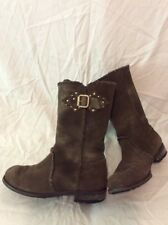 Jimmy Choo Brown Mid Calf Suede Boots Size 37.5