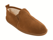 Men's Minnetonka Pile Lined Romeo Slipper Brown Suede