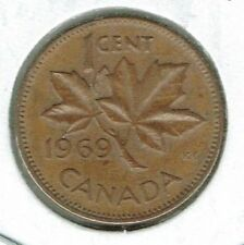 1969 Canadian Circulated One Cent Elizabeth II Coin!