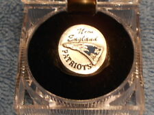 NEW ENGLAND PATRIOTS  HAND PAINTED SCULPTED PEWTER RING WITH TEAM LOGO SIZE 8