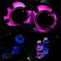 LED Cup Pad Car Accessories Light Cover Interior Decoration 10%OFF Lights Q6B3