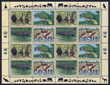 UN NEW YORK . 1994 Endangered Species . Complete Sheet .  Mint Never Hinged