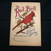Vintage The Red Bird Pencil Tablet School Series Notebook unused Ephemera paper