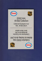 Esso NHL All Star Collection (Topper) 1988-89 ESSO All-Stars Hockey (NM+)