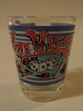 Liquor Shot Glass ~*~ Las Vegas, NEVADA: Dice ~*~ King and Ace of Spades Cards