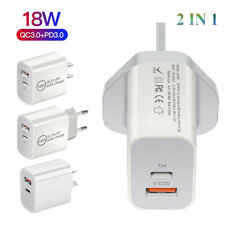PD 18W USB-C Type C Fast Wall Charger Power Adapter For iPhone 12 11 XS Android