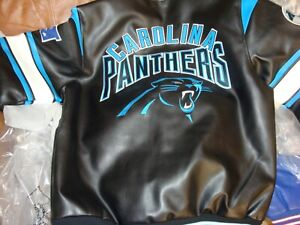 Carolina Panthers faux leather jacket size extra large brand new g3 brand