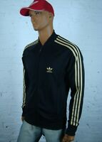 Adidas Originals Big Logo Black Gold Track Chile Jacket Size L