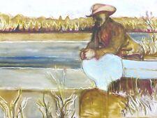 Billy Childish-Uomo In Cappello firmato numerato edizione limitata ART PRINT 2/200