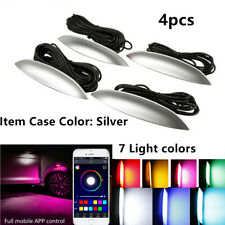 4Pcs Car Fender Wheel Lights Eyebrow LED Colorful Music Phone App Control12-24V