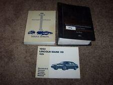 1992 Lincoln Mark VII 7 Workshop Shop Service Repair Manual Set LSC 5.0L V8