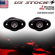 2X Red Underglow LED Rock Lights Offroad Truck ATV Fender Underbody Light 9W