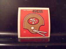 1977 NFL Football Helmet Sticker Decal San Francisco 49'ers Sunbeam Bread