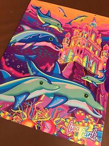 Rare Vintage Lisa Frank Fantasea Castle & Dolphins Double Pocket Folder