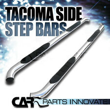 "For 05-18 Toyota Tacoma Double (Crew) Cab 3"" Stainless Steel Side Step Nerf Bars"