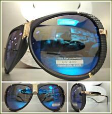 Classic Vintage Retro Luxury Style SUN GLASSES Unique Matte Black & Gold Frame