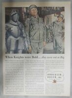 Budweiser Beer Ad: When Knights Were Bold and Not So Big  ! from 1940's
