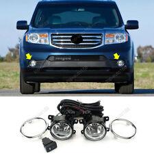 w/ Bulbs/ Cable/ Switch Halogen Front Fog Light Kit For Honda Pilot 2012-2014
