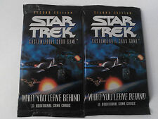Star Trek ccg Two What you leave behind WYLB sealed booster packs