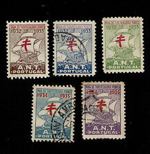 OPC Lot of 5 Portugal tuberculosis Seals Cinderellas Used