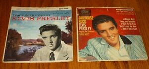 2 Elvis Presley Extended Play record sleeves Peace In The Valley, Jailhouse Rock