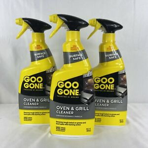 Lot x 3 Goo Gone Oven And Grill Cleaner 28 Fluid Ounce Each, New