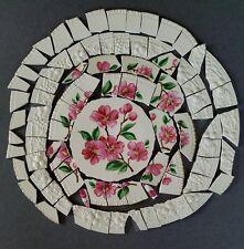 Vintage Apple Blossom Focal + 80 Mosaic Tiles Embossed Rims