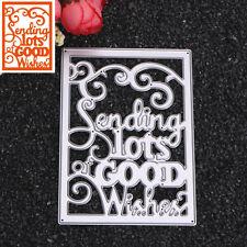 Rectangular letters Cutting Dies Stencil DIY Scrapbooking Album Card Embossing