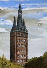 ORIGINAL AQUARELL - Leuchtturm Wangerooge.
