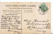 Genealogy Postcard - Harwood - Rosemont Rd - Richmond Hill - Surrey - Ref 3821A