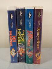 Lot 4 Rare Black Diamond VHS~Beauty & Beast~Rescuers~101 Dalmations~Fox & Hound