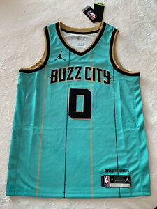 Brand New Miles Bridges Hornets Nike City Jersey Size Mens Large NBA
