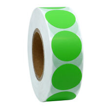 Color Coding Dot Labels 25mm Round Natural Paper Stickers Adhesive Label